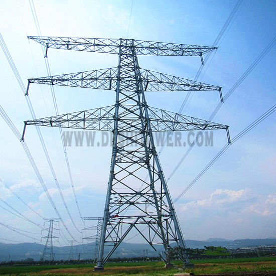 10kv-1100kv Electric Power Transmission Galvanized Steel Tube Tower