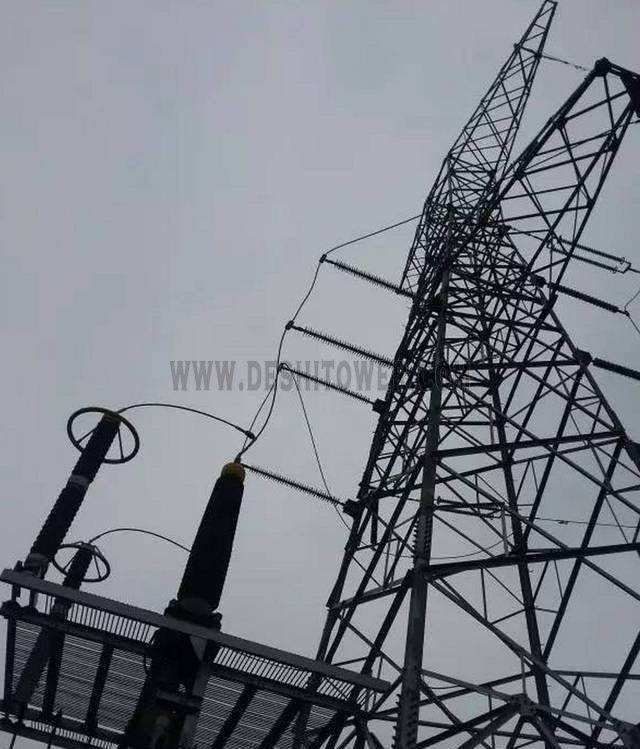 Single Circuit Power Transmission Steel Tower
