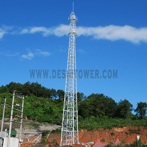 4-Legged Steel Pipe Antenna Communication Tower