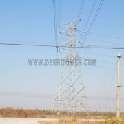Steel Construction 110kv Transmission Power Tower