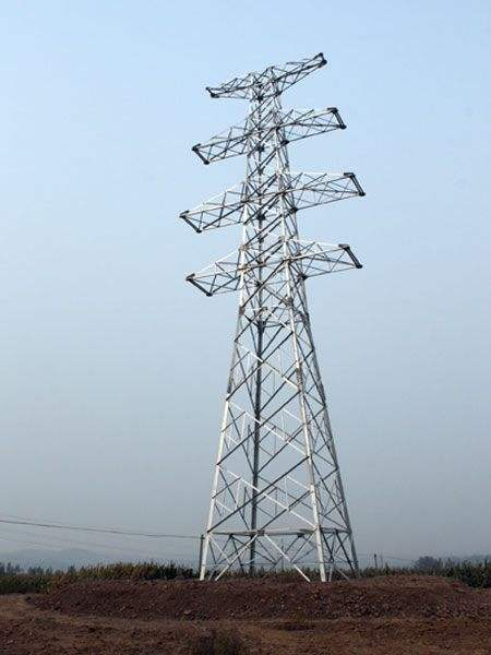 Angle Steel Power Transmission Tower (corner tower)