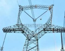 Double Circuit Angle Steel Power Transmission Tower