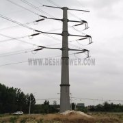 Electric Power Transmission 66kv Galvanized Steel Iron Mono Pole