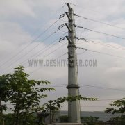 Electric Power Transmission 132kv Galvanized Steel Iron Monopole