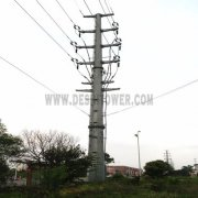Electric Power Transmission 110kv Galvanized Steel Iron Monopole