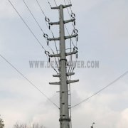 Electric Power Transmission 330kv Galvanized Steel Iron Mono Pole
